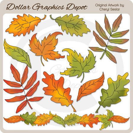 Autumn Leaves 1 - Clip Art