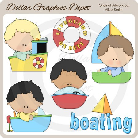 Boating - Clip Art