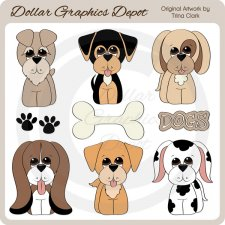 Everyday Dogs - Clip Art