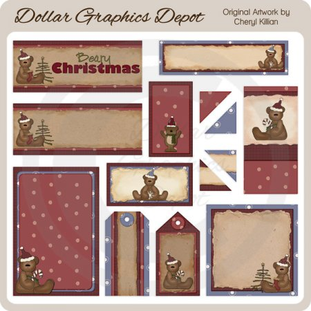 Beary Christmas - Scrappin Delights