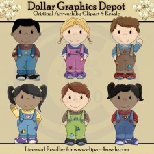 Bib Overall Kids 1 - *DGD Exclusive*
