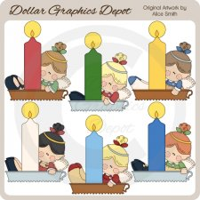Candlelight Angels - Clip Art - *DCS Exclusive*