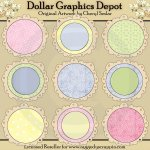Circle Doodle Frames - Baby - Scrap Elements