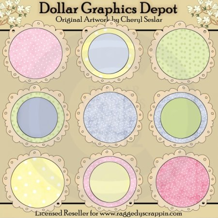 Circle Doodle Frames - Baby