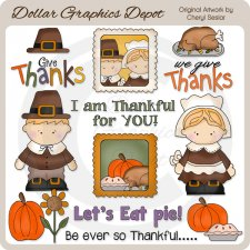 We Give Thanks - Clip Art