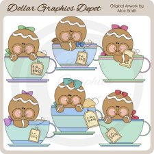 Teacup Gingers - Clip Art - *DGD Exclusive*