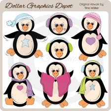 Just Penguins - Clip Art