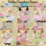 Dress Up Darcy - Happy Easter - Clip Art