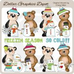 Bestie Bears - Winter Fun - Clip Art - *DGD Exclusive*
