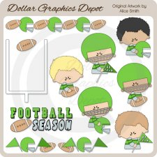 Football - Green - Clip Art