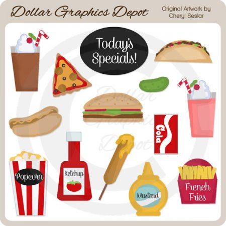 Yummy Fast Food - Clip Art