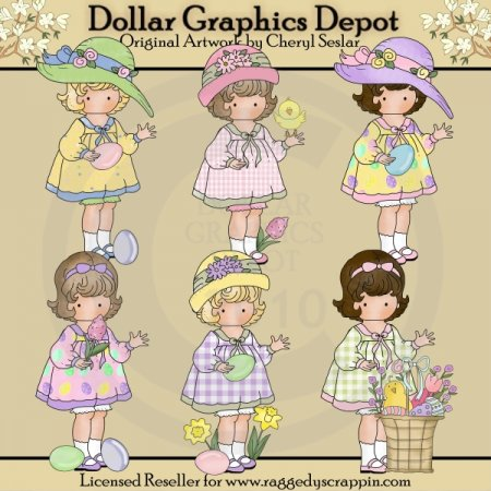 Little Easter Cuties - Clip Art - *DGD Exclusive*