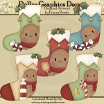 Gingerbread Stockings - Clip Art