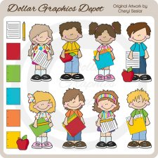 Big Kids - Homework - Clip Art