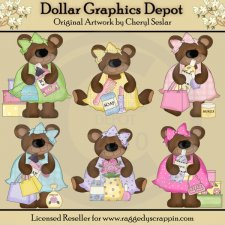 Foo Foo Bears - Clip Art - *DCS Exclusive*