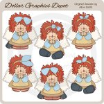 Annie Angel Prayers - Clip Art - *DGD Exclusive*