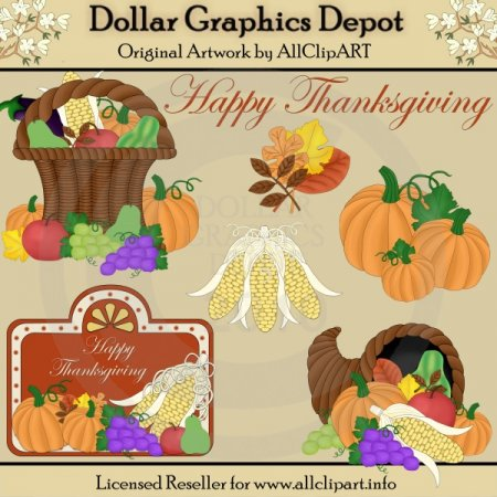 Thanksgiving Accents - Clip Art