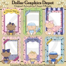 Baby Picture Frames - Printables
