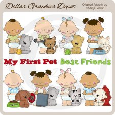 Baby's First Pet - Clip Art - *DGD Exclusive*