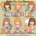 Savanah Loves Easter - Clip Art