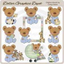 Baby Bears - Boys - Clip Art