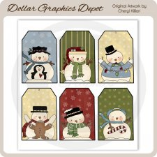 Winter Buddies Sheet Tags
