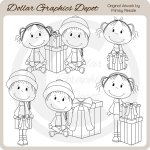Kids 'n' Christmas Gifts - Digital Stamps