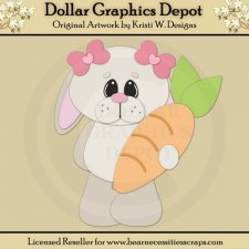 Easter Bunny 5 - Cutting Files / Paper Piecing - *DGD Exclusive*