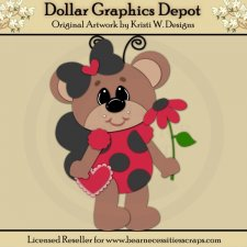 Ladybug Bear 3 - Cutting Files / Paper Piecing - *DGD Exclusive*