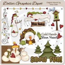 Snow Fun - Clip Art