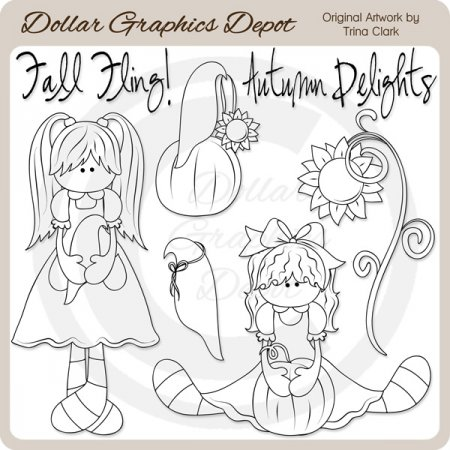 Autumn Delights - Digital Stamps