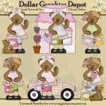 Bedilia Bear Goes Shopping - Clip Art