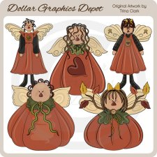 Autumn Angels 1 - Clip Art