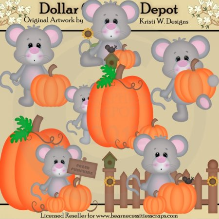 Autumn Mice - Clip Art - *DGD Exclusive*
