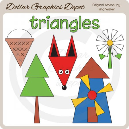 Shapes - Triangles - Clip Art