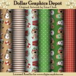 Yuletide Doggies 1 - Scrap Papers
