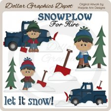 Snowplow For Hire 2 - Clip Art