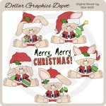 Christmas Bunnies - Clip Art - *DGD Exclusive*