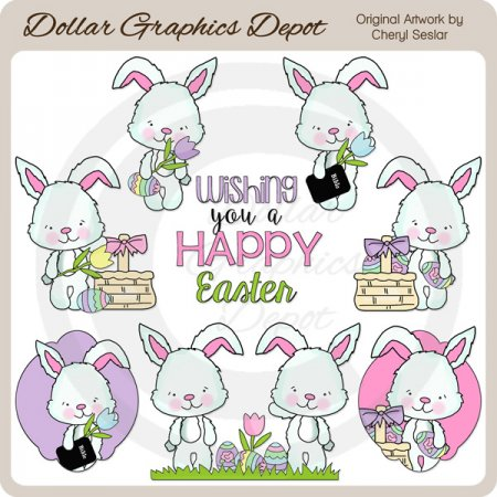 Easter Sunday Bunny - Clip Art