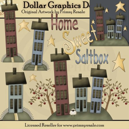 Home Sweet Saltbox - Clip Art