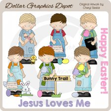 Easter Boys - Clip Art - *DGD Exclusive*