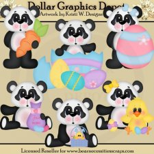 Easter Pandas - Clip Art - *DGD Exclusive*