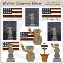Liberty Bear - Clip Art