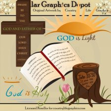 God Is Light - Clip Art