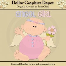 Angel Baby 1 - Cutting Files / Paper Piecing Patterns