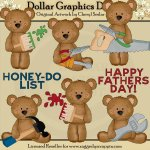 Father's Day Bears 1 - Clip Art