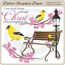 Christ Strengthens Me - Clip Art