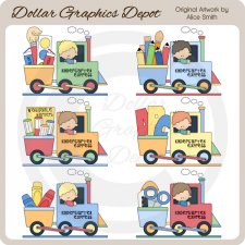 Kindergarten Express - Clip Art - *DGD Exclusive*