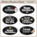 Christmas Chalkboard Labels