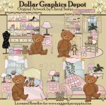 Shabby Chic Bears - *DGD Exclusive*